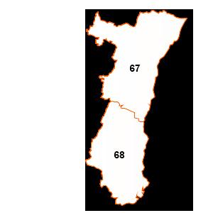 carte de la région Alsace