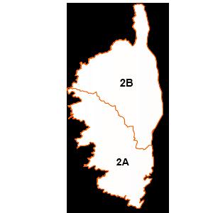 carte de la région Corse