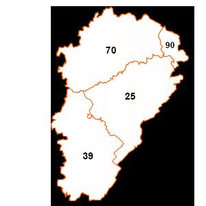 carte de la région Franche-Comté