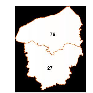 carte de la région Haute-Normandie