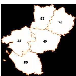 carte de la région Pays de la Loire