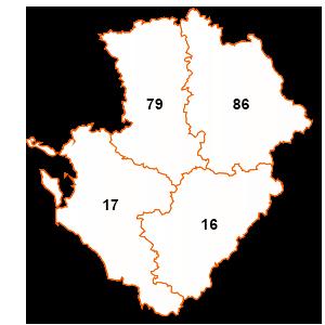 carte de la région Poitou-Charentes