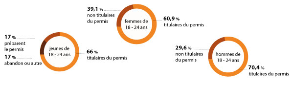 statistiques permis et jeunes