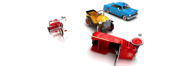 petites voitures accidentées