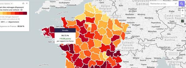 taux d'équipement véhicule en France