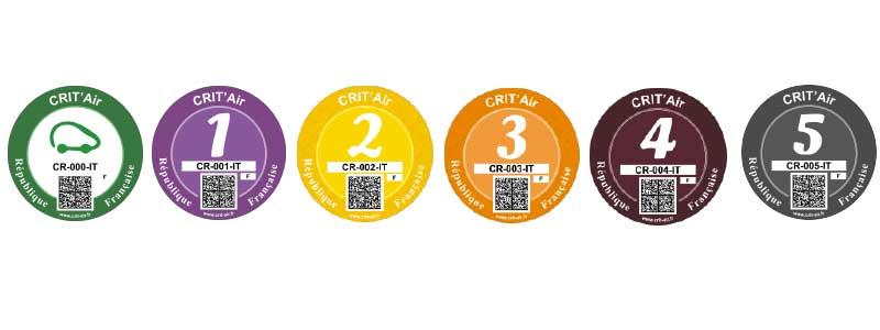 pastille véhicule certificat qualité de l'air
