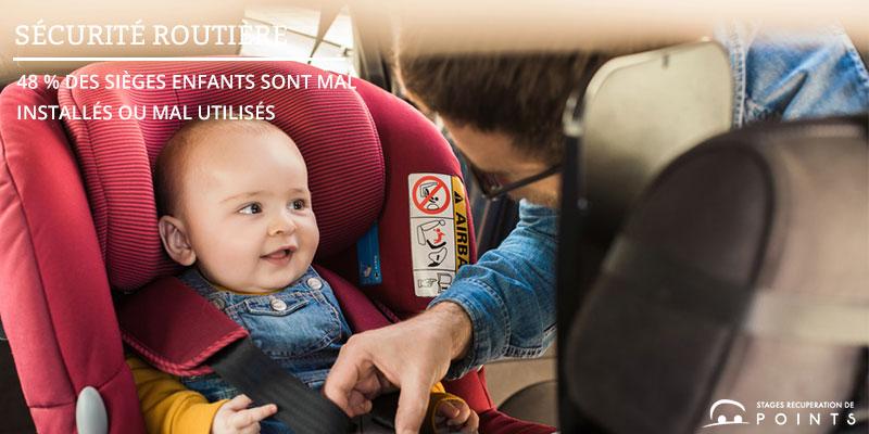 48 % des sièges enfants sont mal installés ou mal utilisés