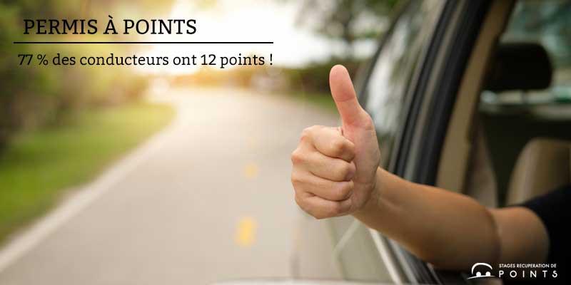 77 % des conducteurs ont 12 points !