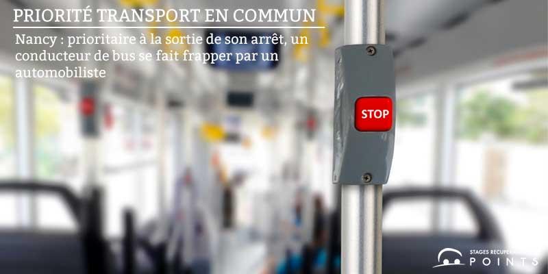 Nancy : prioritaire à la sortie de son arrêt, un conducteur de bus se fait frapper par un automobiliste