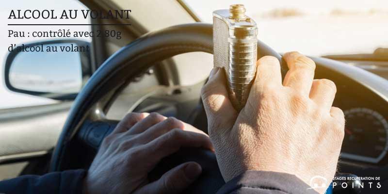 Pau : contrôlé avec 2,80g d'alcool au volant