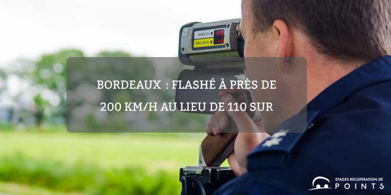 Bordeaux: flashé à près de 200 km/h au lieu de 110 sur l'autoroute