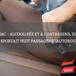 Cognac: alcoolisée et à contresens, elle transportait huit passagers