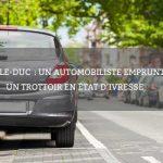 Bar-le-Duc: un automobiliste emprunte un trottoir en état d'ivresse