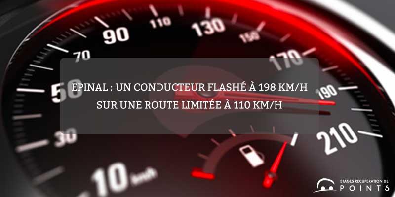 Epinal : un conducteur flashé à 198 km/h sur une route limitée à 110 km/h