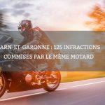 Tarn-et-Garonne : 125 infractions commises par le même motard