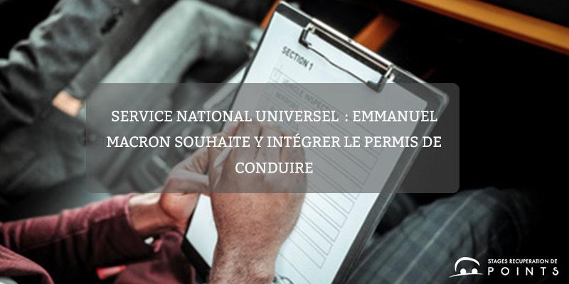 Service national universel: Emmanuel Macron souhaite y intégrer le permis de conduire