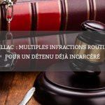 Aurillac: multiples infractions routières pour un détenu déjà incarcéré