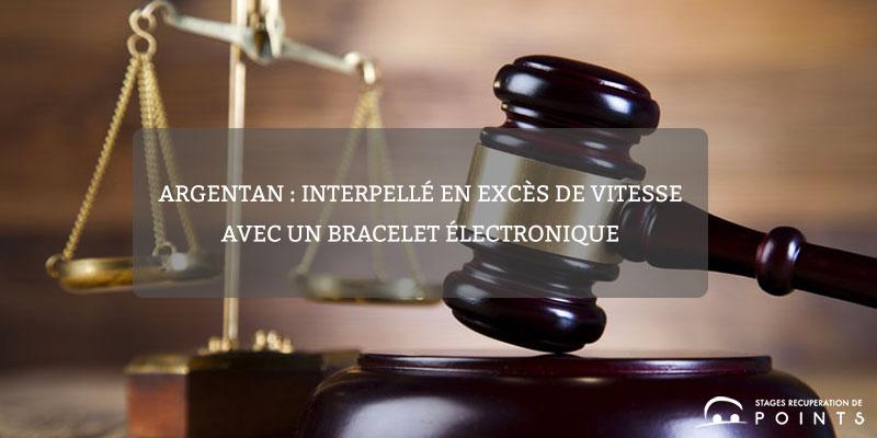 Argentan : interpellé en excès de vitesse avec un bracelet électronique