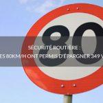 Sécurité routière: les 80km/h ont permis d'épargner 349 vies