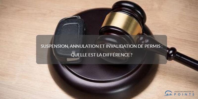Suspension, annulation et invalidation de permis : quelle est la différence ?